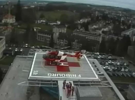 BAYARDS: Heliport hôpital Fribourg Switzerland